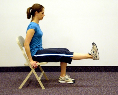 Seated calf raise stretch