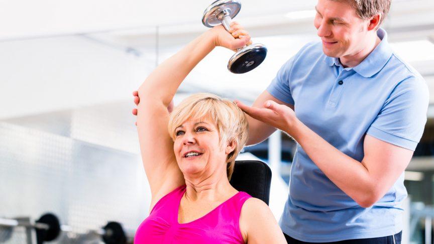 Supervised arm exercises