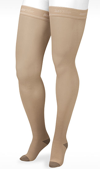 juzo silver thigh high stockings lymphedema products